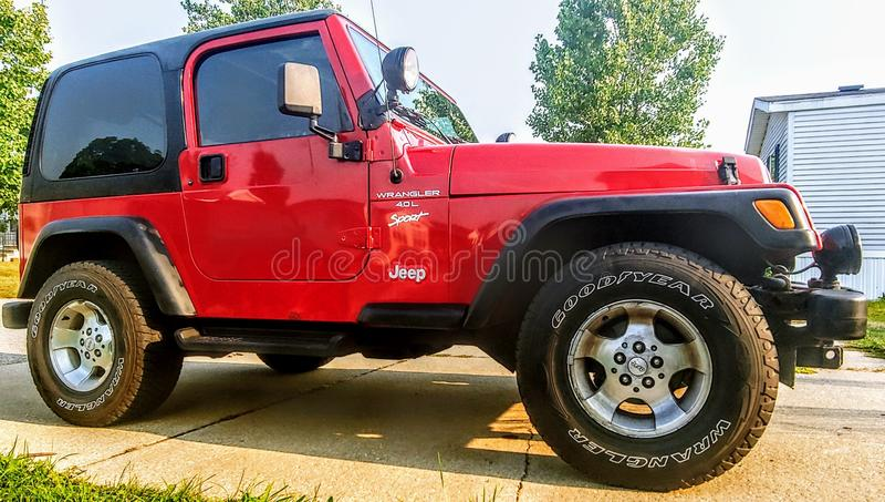 Jeep Wrangler 2001 fotografia de stock royalty free