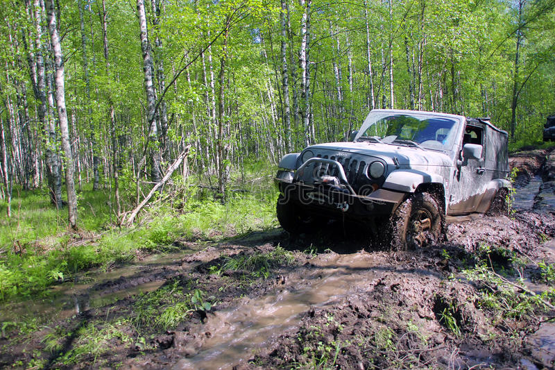Jeep Wrangler en Rusia imágenes de archivo libres de regalías