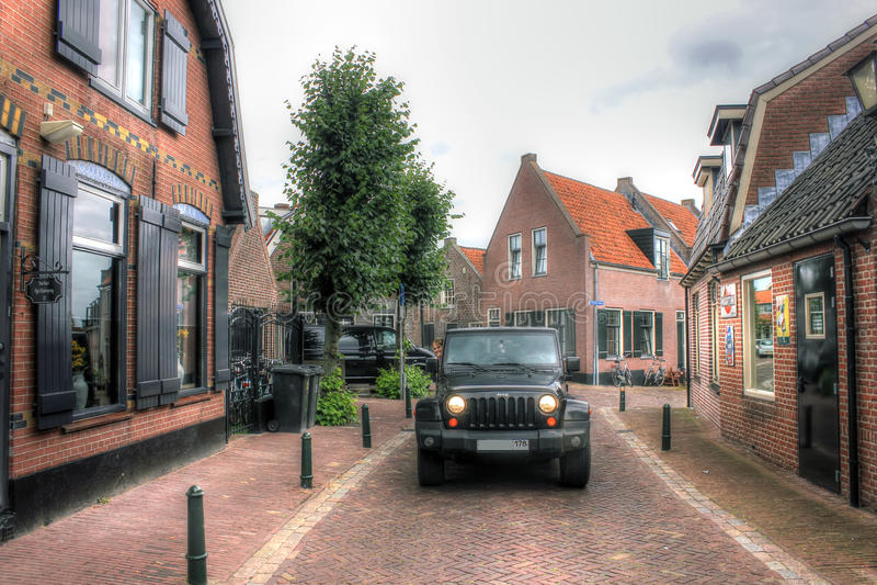 Jeep Wrangler, Paesi Bassi, Europa immagine stock