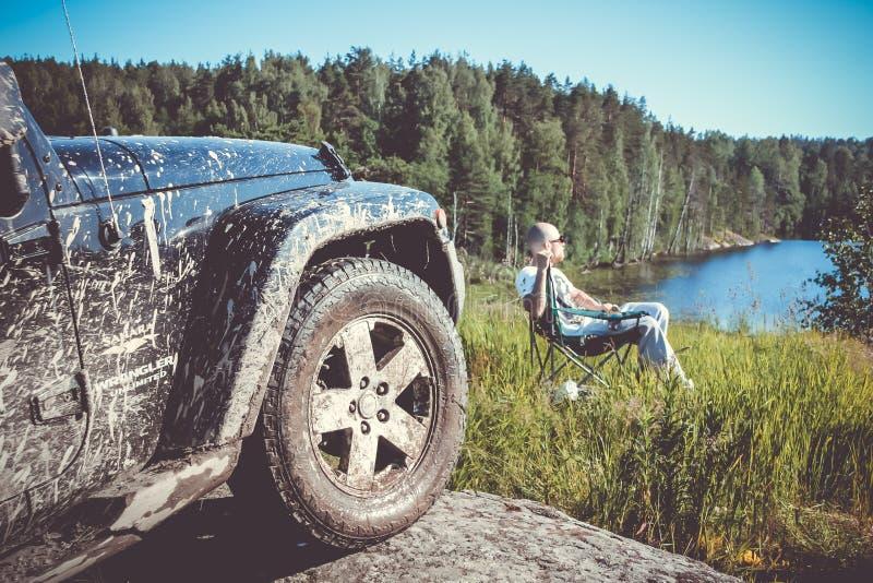 Jeep Wrangler Rubicon fotografía de archivo libre de regalías