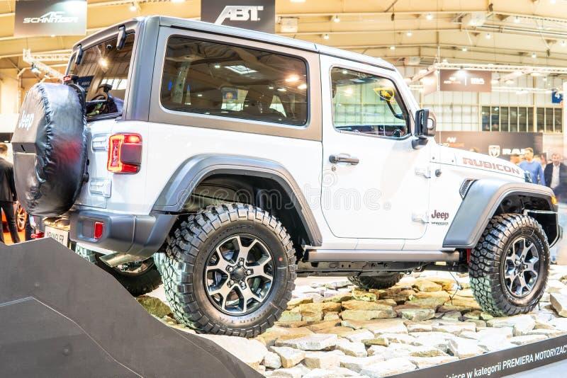 Jeep Wrangler Rubicon della quarta generazione, JL, fuoristrada della trazione integrale manifatturiero in jeep immagine stock