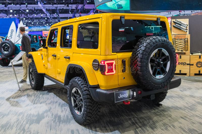Jeep Wrangler Rubicon on display during Los Angeles Auto Show stock photography