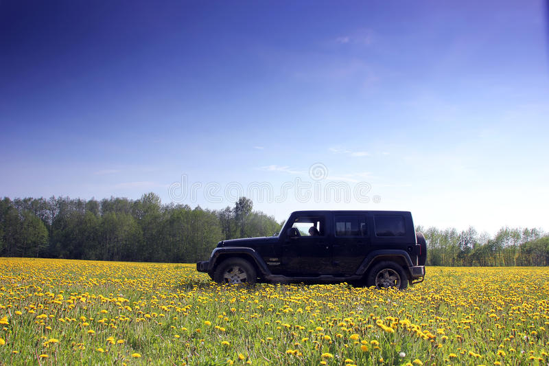 Jeep wrangler in Russia royalty free stock photo