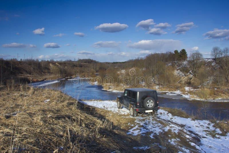 Jeep Wrangler Ryssland royaltyfria bilder