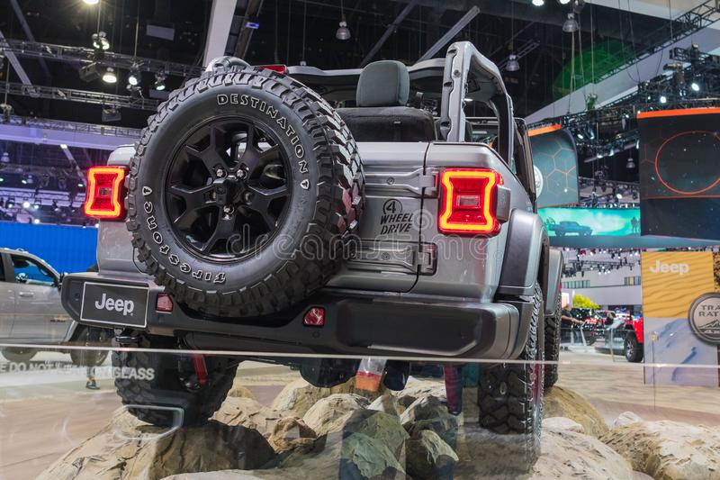 Jeep Wrangler Willys on display during Los Angeles Auto Show royalty free stock photos