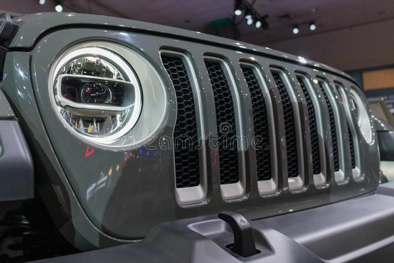 Jeep Wrangler Willys on display during Los Angeles Auto Show stock image