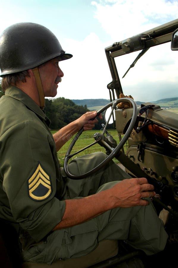 jeepa człowiek napędowy fotografia royalty free