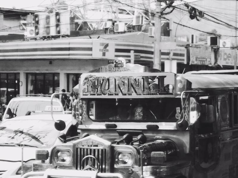 Jeepney obrazy royalty free