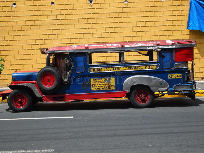 Jeepney in Manila stock photo