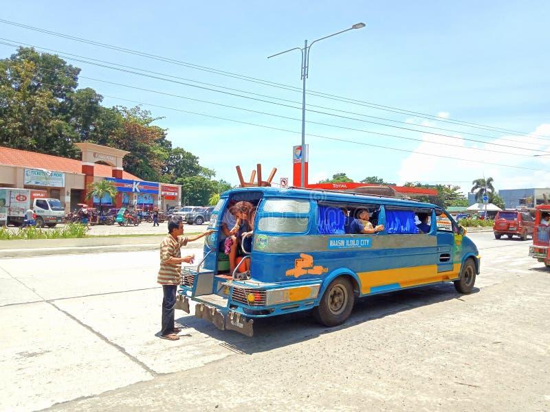Jeepneytranspo in Iloilo-Provincie royalty-vrije stock foto's
