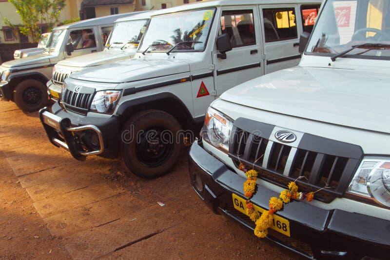 Jeeps het parkeren royalty-vrije stock foto's
