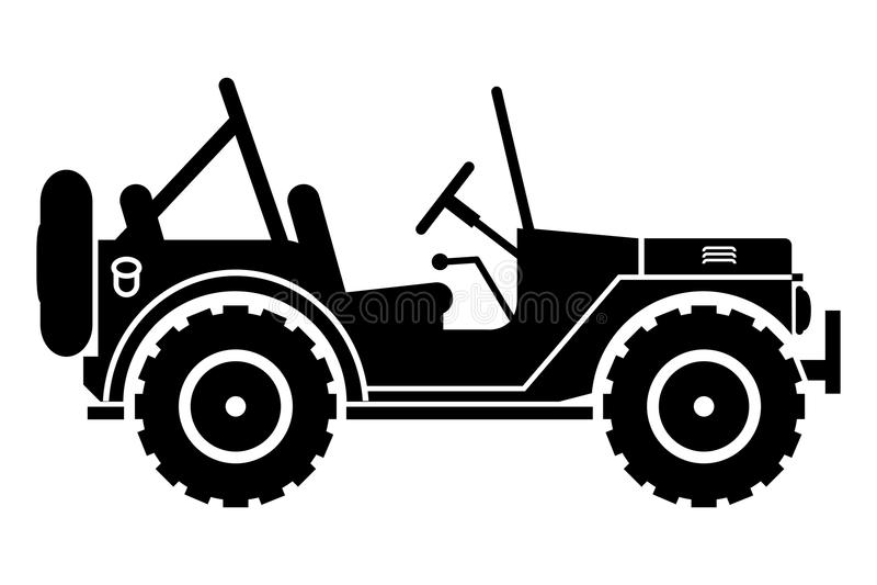 Jeepsilhouet. vector illustratie