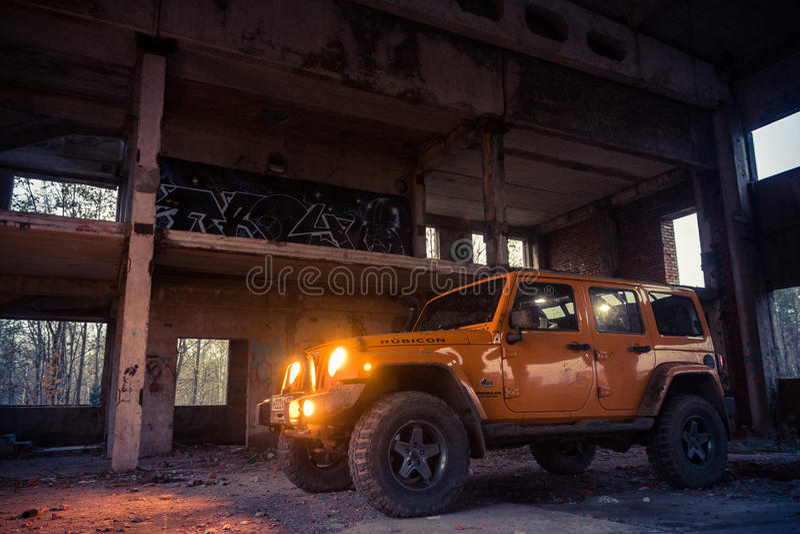 Jeepwrangler Rubicon royaltyfria bilder