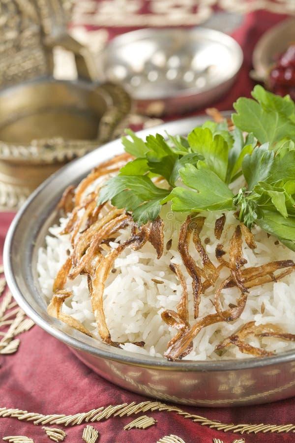 Jeera do arroz, alimento indiano fotos de stock