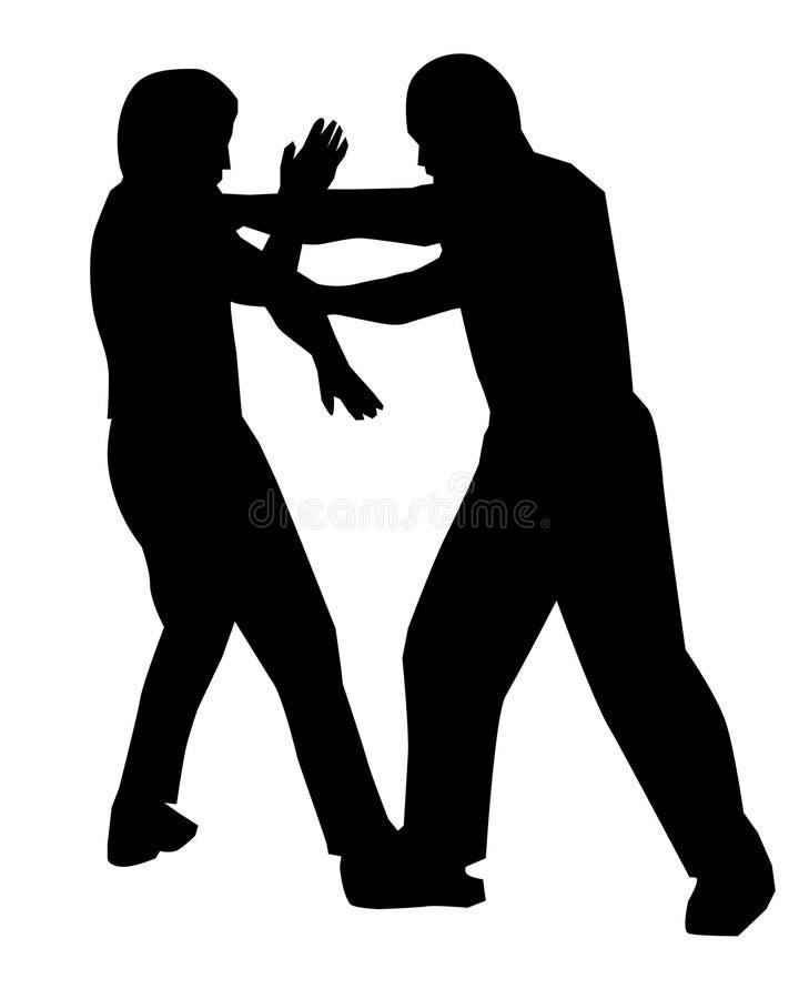 Jeet Kune faz a caça com armadilhas ilustração royalty free