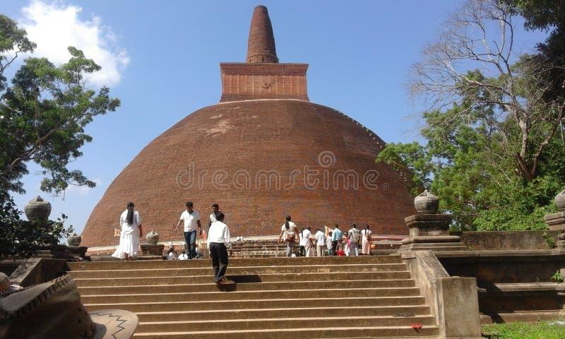 Jeethawanaramaya pagoda in sri lanka. National heritage in sri lanka.very big pagoda.buddist`s worship place.many peoples come to visit this place stock images