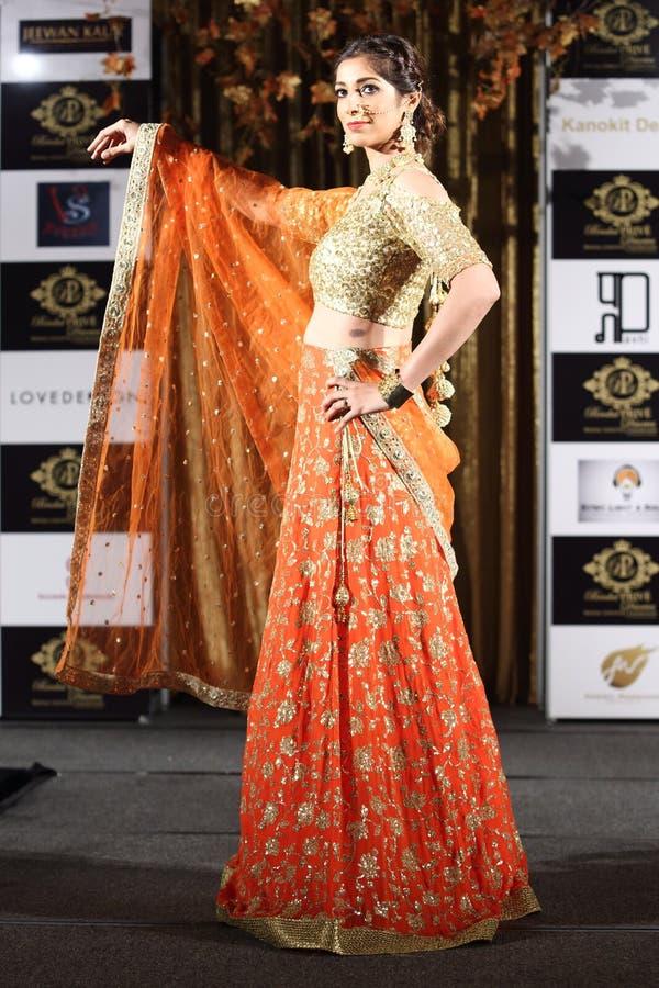Jeewan Kaur印度婚礼样式时装表演  库存图片