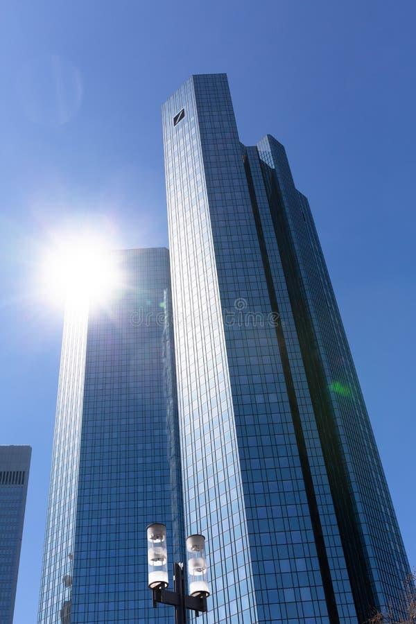 Jefaturas de Deutsche Bank Francfort - Alemania fotografía de archivo libre de regalías