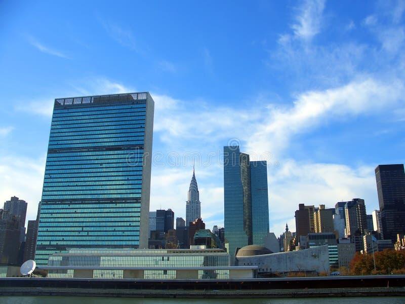 Jefaturas de la O.N.U, Manhattan, Nueva York fotografía de archivo libre de regalías