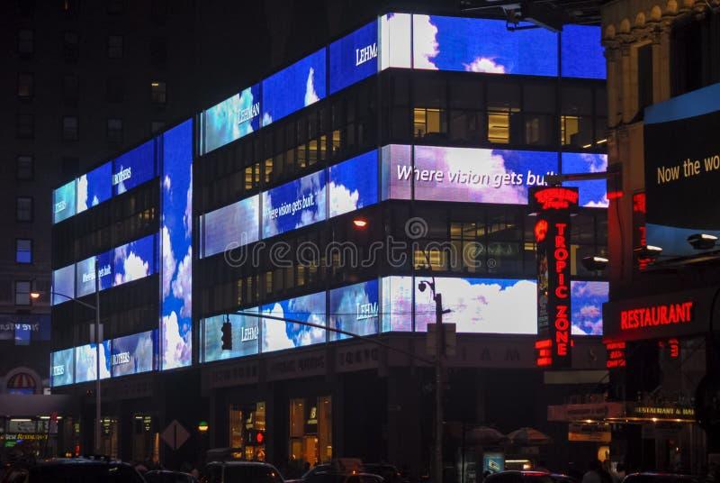 Jefaturas de Lehman Brothers - New York City imagen de archivo