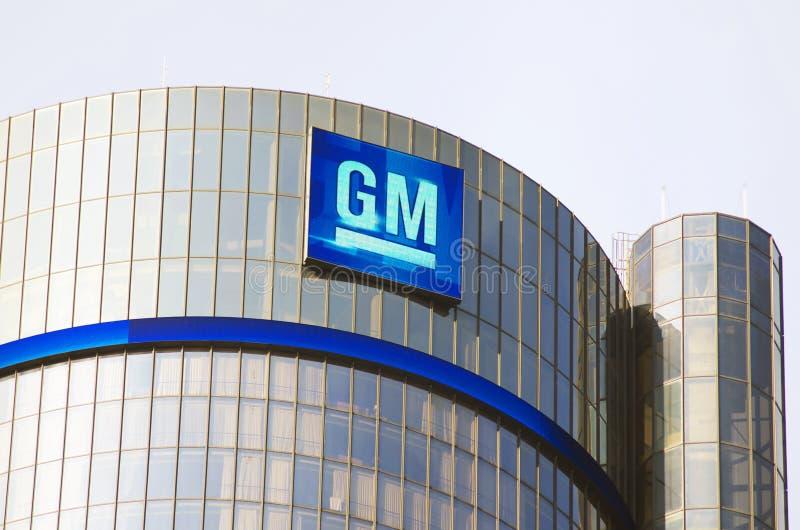 Jefaturas del edificio del GM en Detroit céntrica fotografía de archivo