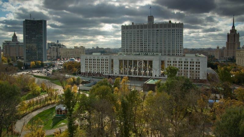 Jefaturas del gobierno de la Federación Rusa. Moscú imagen de archivo