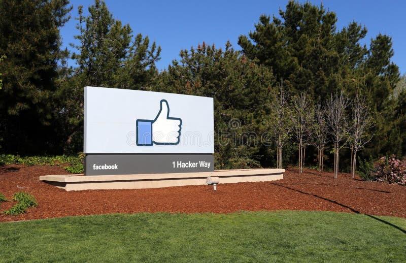 Jefaturas del mundo de Facebook fotos de archivo