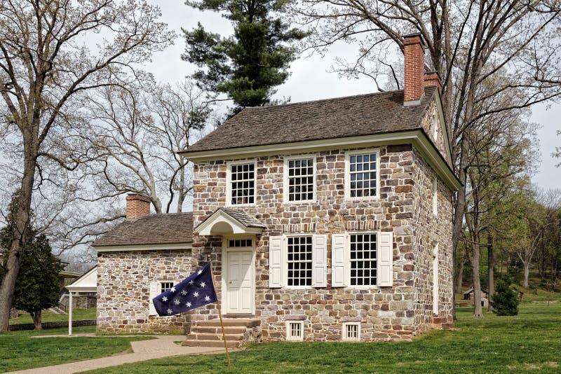 Jefaturas del ` s de George Washington en la fragua del valle imágenes de archivo libres de regalías