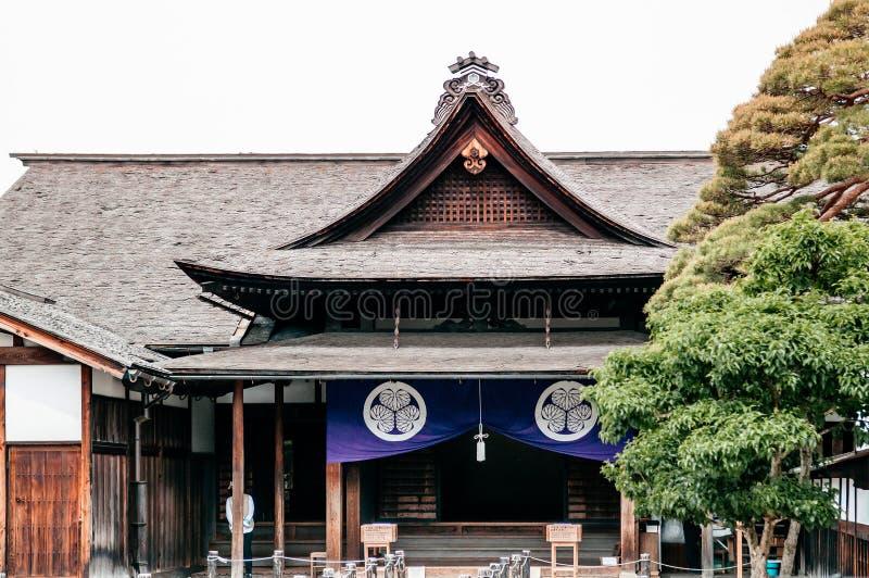 Jefaturas viejas del gobierno del jinya de Takayama para la provincia de Hida en fotos de archivo libres de regalías