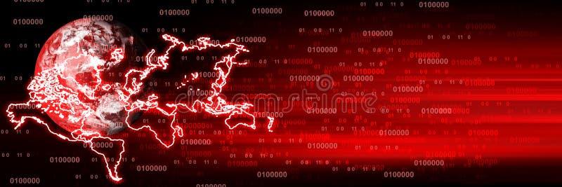 Jefe de Digitaces Concepto del negocio de las comunicaciones globales Imagen coloreada ultravioleta Color del th stock de ilustración