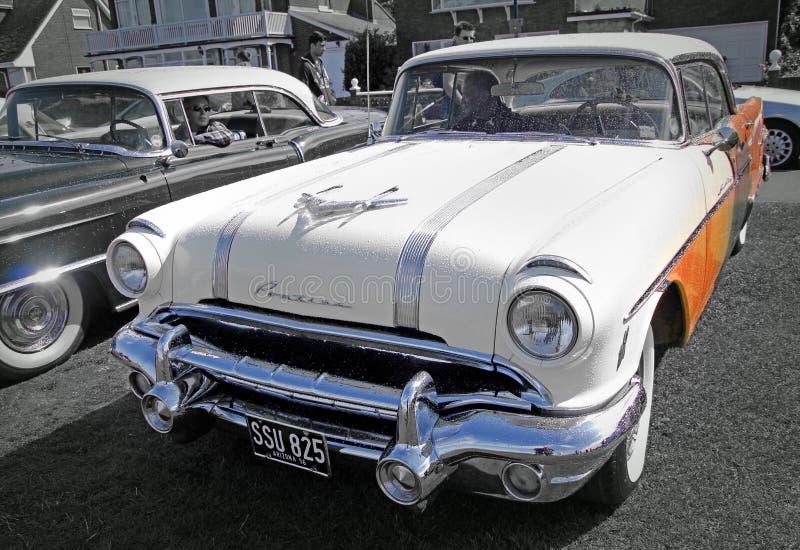 Jefe de la estrella de Pontiac del americano del vintage fotografía de archivo