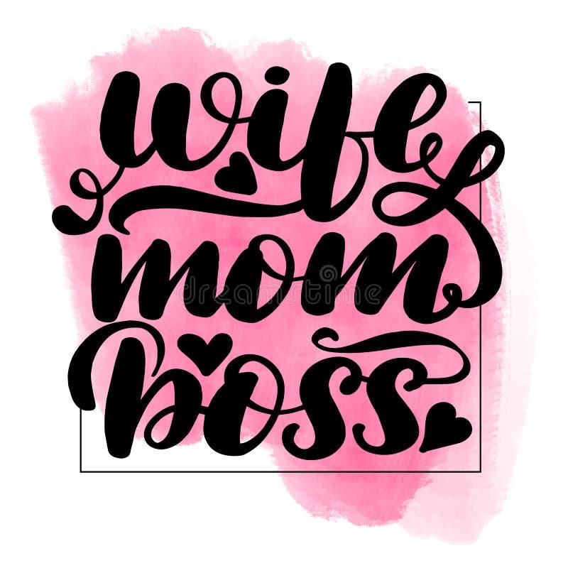 Jefe de la mam? de la esposa libre illustration