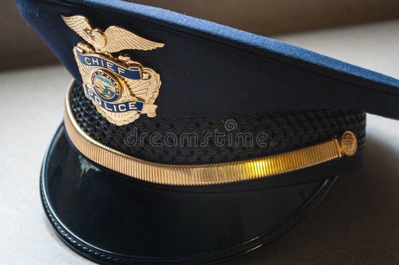 Jefe de policía Hat foto de archivo