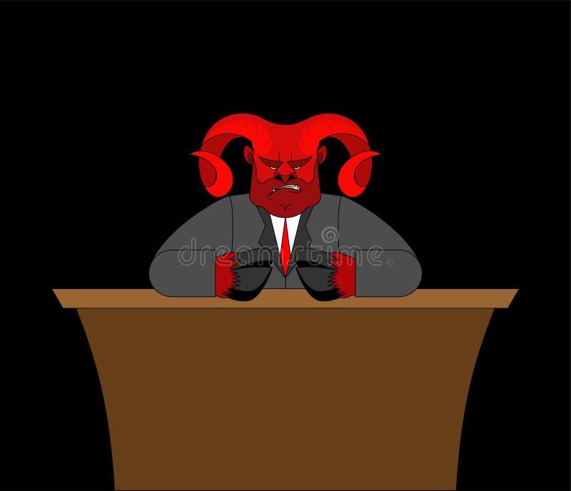 Jefe de Satanás  stock de ilustración