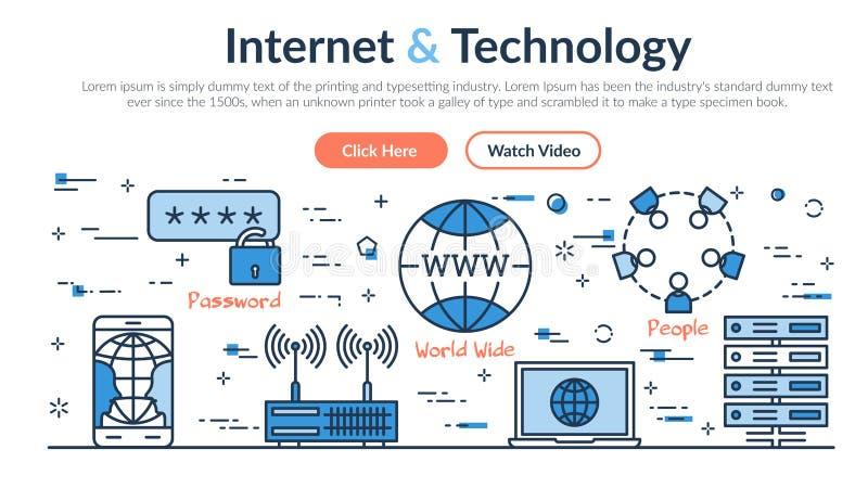 Jefe del sitio web - Internet y tecnología ilustración del vector