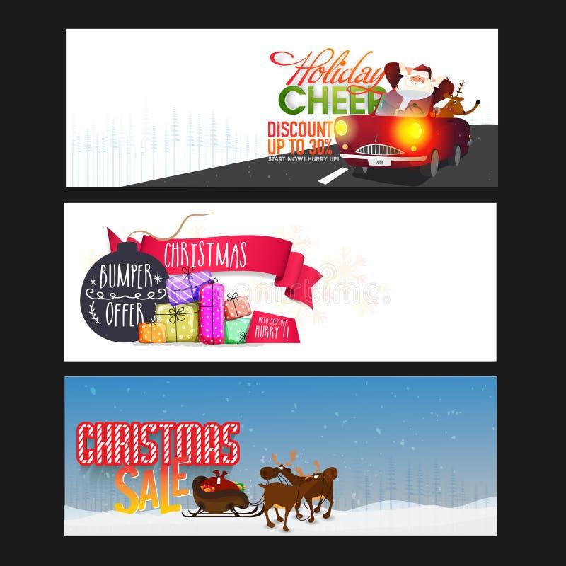 Jefe del web de la venta de la Navidad o sistema de la bandera libre illustration