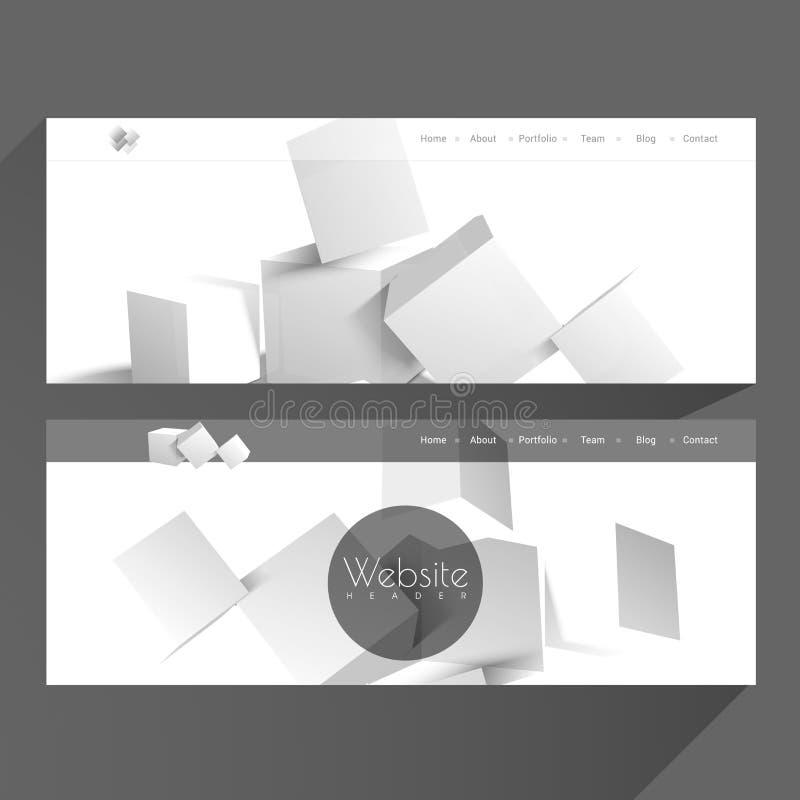 Jefe del web o sistema de la bandera stock de ilustración
