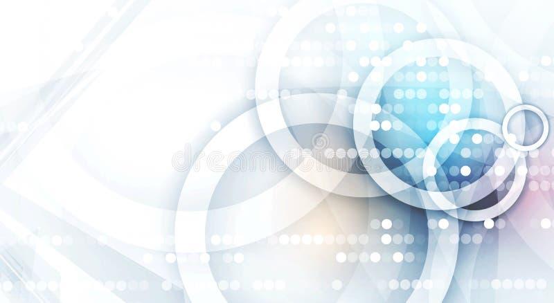 Jefe digital abstracto del sitio web Fondo de la bandera ilustración del vector