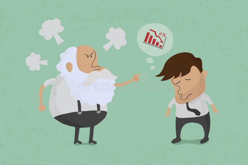 Jefe enojado con el empleado libre illustration