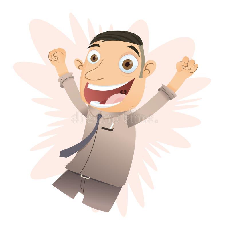 Jefe feliz de la historieta libre illustration