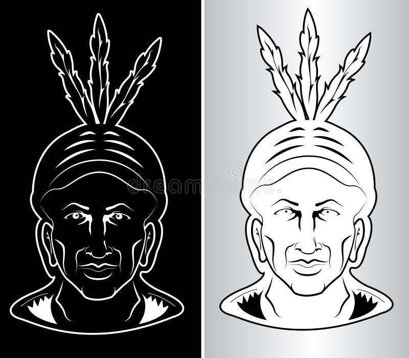 Jefe indio norteamericano ilustración del vector