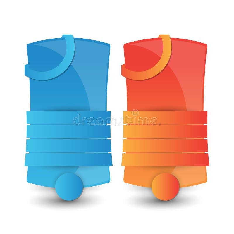 Jefe o bandera abstracto del sitio web stock de ilustración