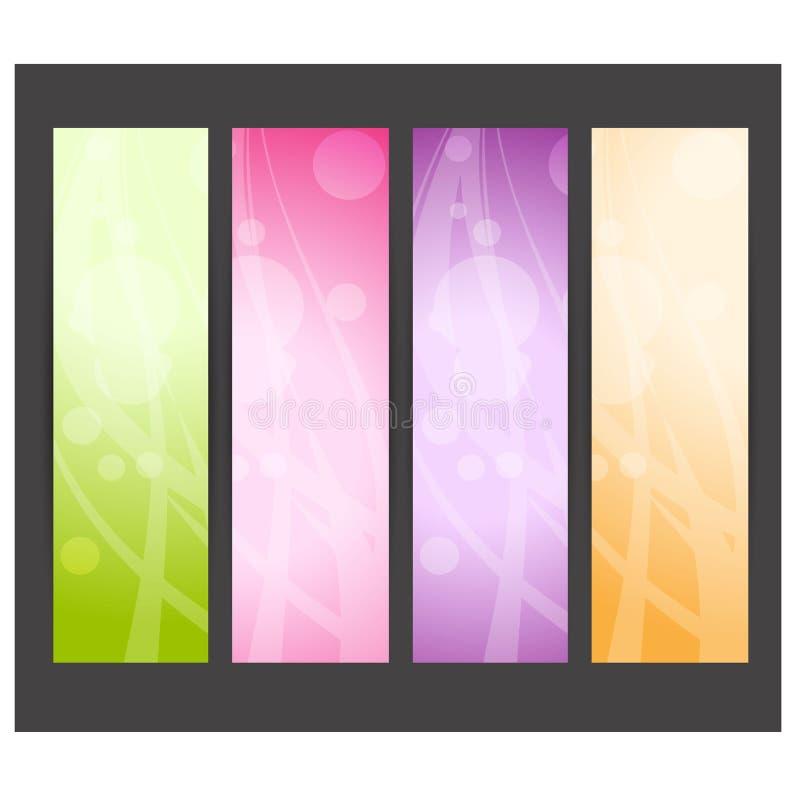 Jefe o bandera abstracto del sitio web Vector ilustración del vector