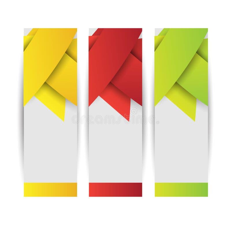 Jefe o bandera abstracto del sitio web Vector stock de ilustración