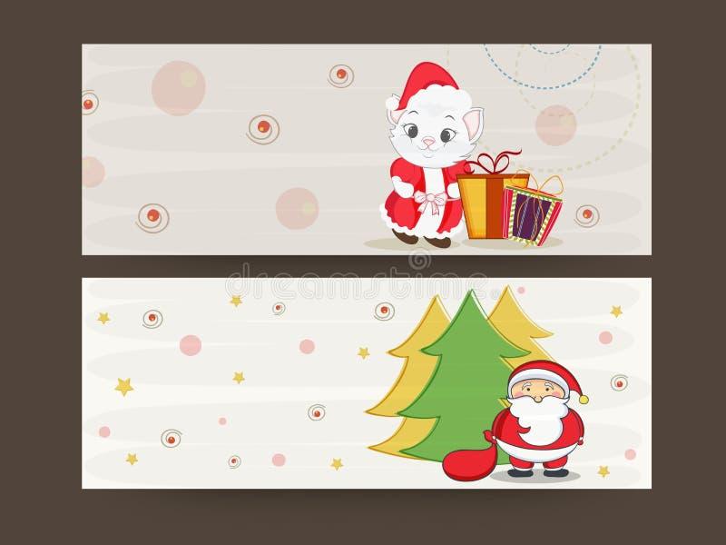 Jefe o bandera para las celebraciones de la Feliz Navidad stock de ilustración