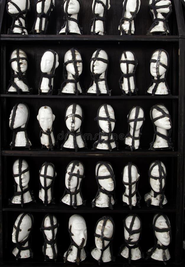 Jefes de maniquíes imagen de archivo libre de regalías