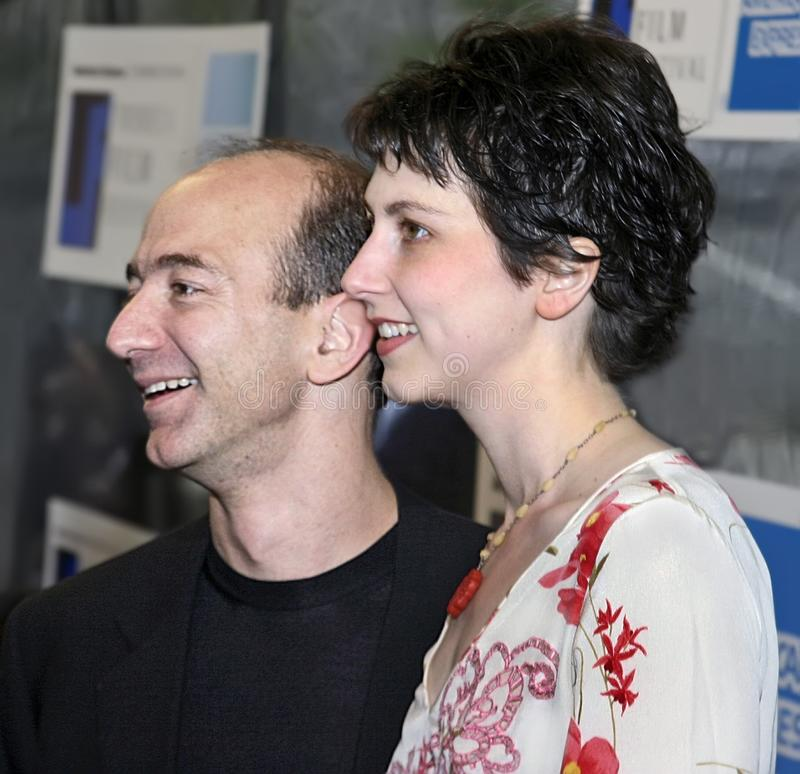 Jeff Bezos και Mackenzie Bezos στοκ εικόνα με δικαίωμα ελεύθερης χρήσης