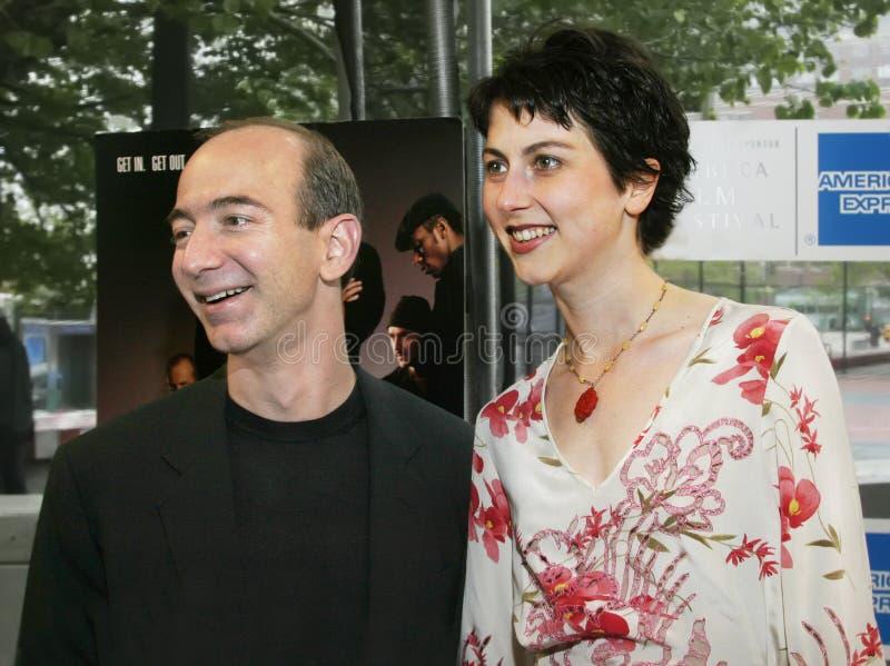 Jeff Bezos i MacKenzie Bezos zdjęcie stock