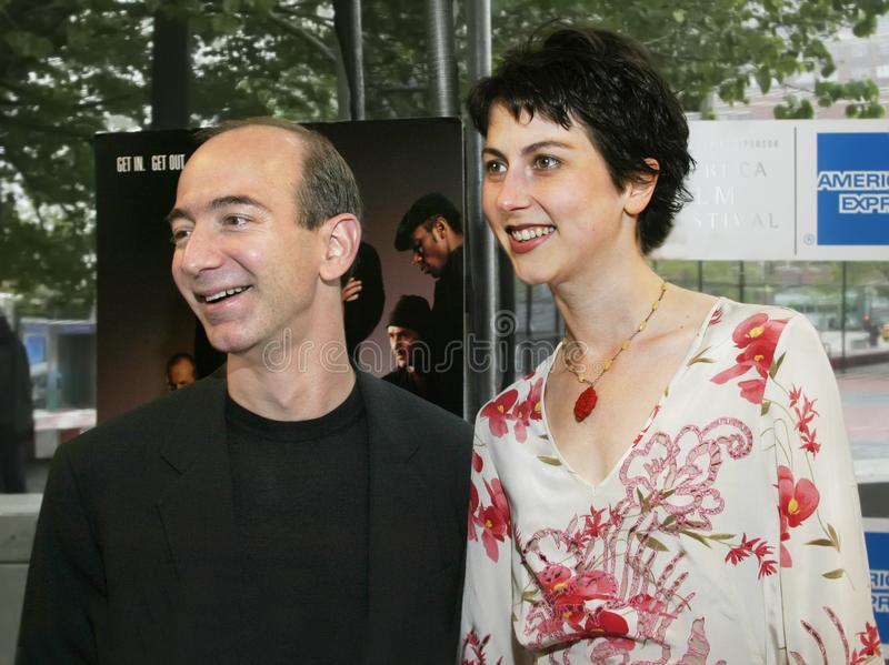 Jeff Bezos and MacKenzie Bezos. Jeff Bezos and wife MacKenzie Bezos arrive at the 2nd Tribeca Film Festival in lower Manhattan on May 11, 2003. Mrs. Bezos is a stock photo