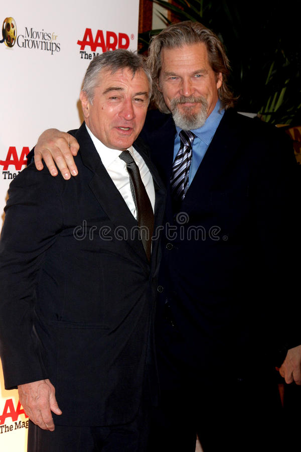 Jeff Bridges, Robert De Niro foto de stock royalty free